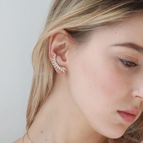Angel ear cuff earrings