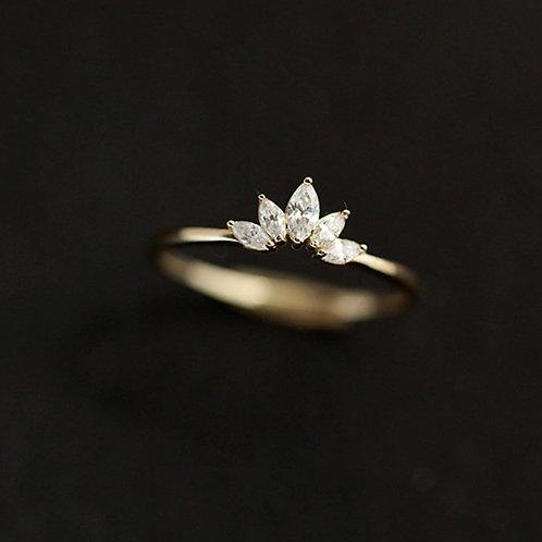 vermeil Crown Ring