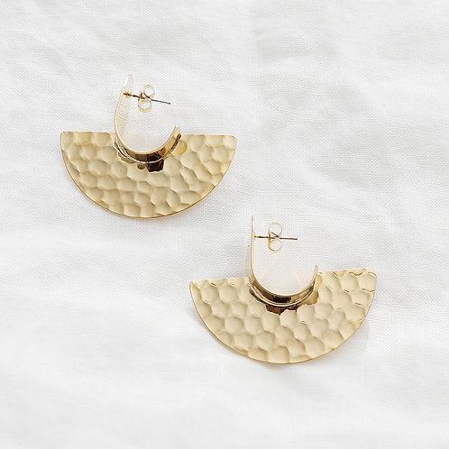 embossed earrings