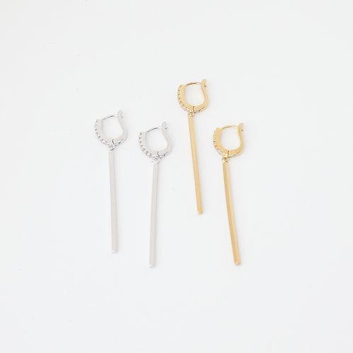 Bar CZ Earrings