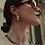 Thumbnail: Gold foil Bold Hoop earrings