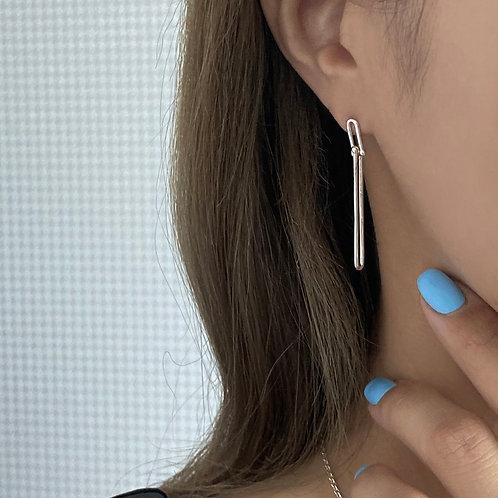 925 silver link drop earring