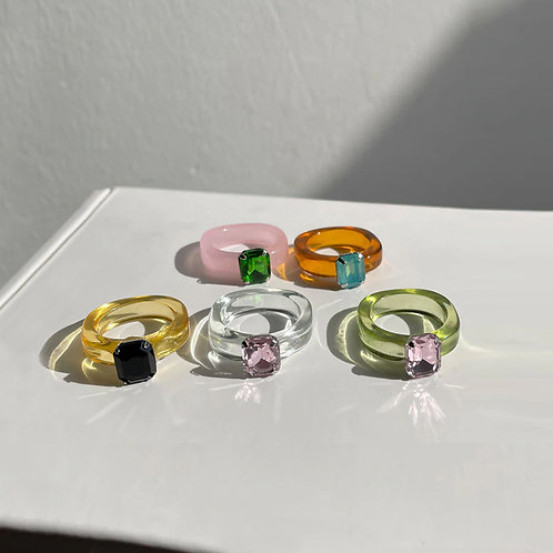 color resin rings