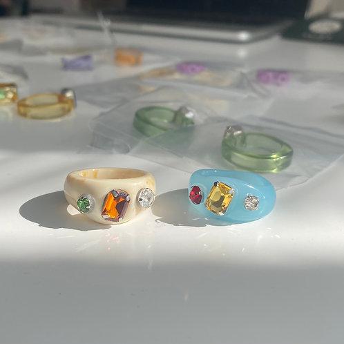 Stone Resin Rings
