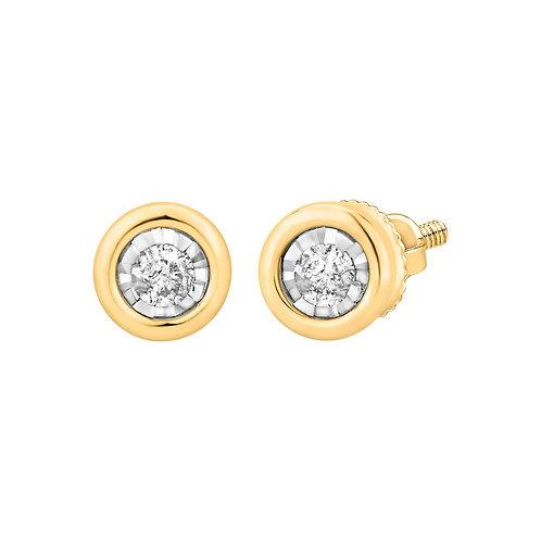 14K Solid GoldDiamond Stud Earrings.