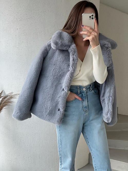 faux fur coat.