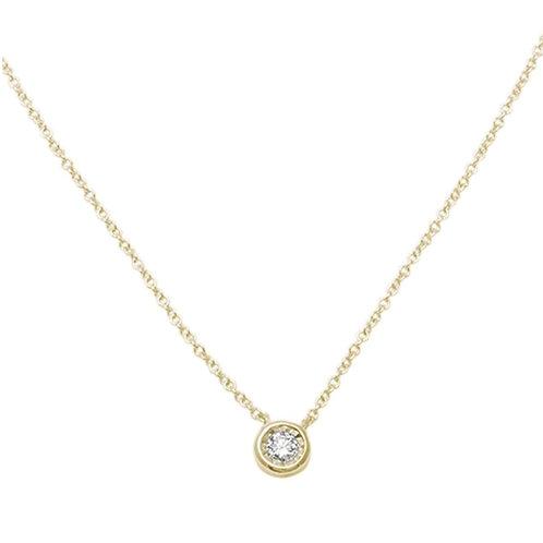 Diamond Pendant 14K Gold Necklace