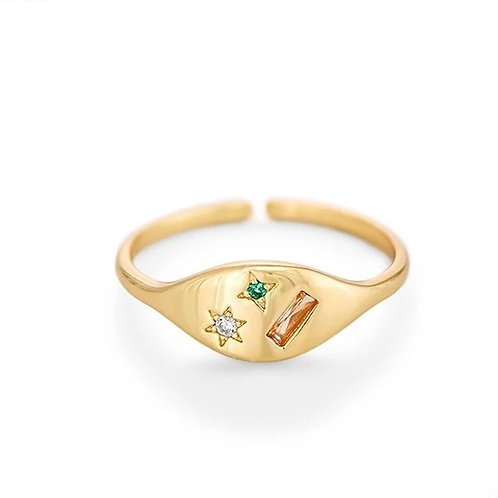 CZ point ring