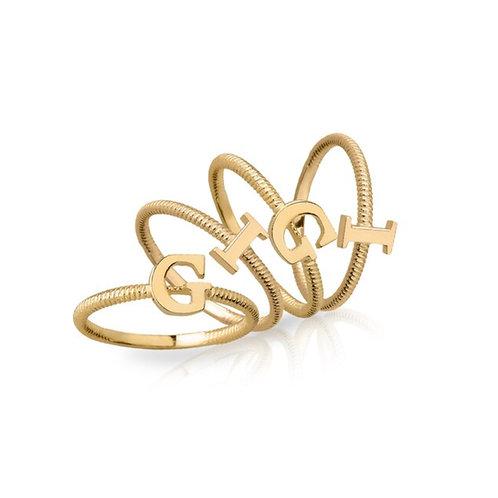 10K Gold Initial Ring