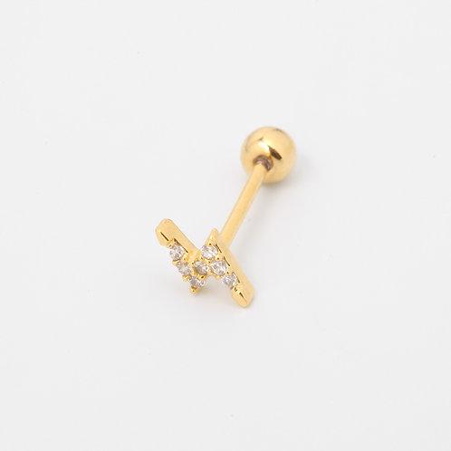 Thunder piercing stud earring.