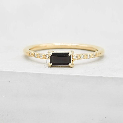 onyx gold vermeil ring