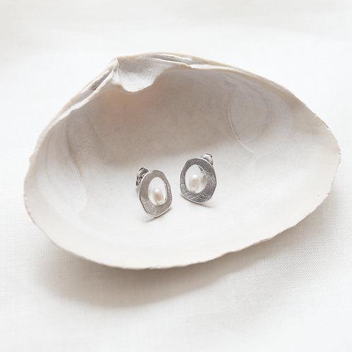 Pearl Doughnut Earrings