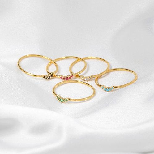 Dainty gemstone rings