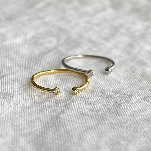 Dainty cz open ring