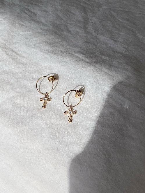 Cross mini hoop