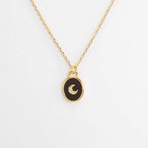 onyx star and moon necklaces