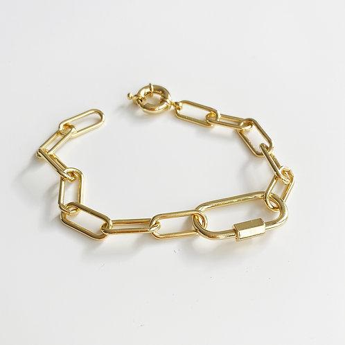 Gold-filled chain bracelet