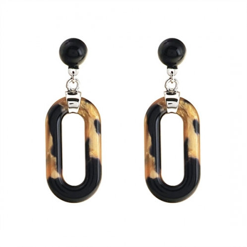 Cellulose Oval Earring