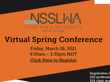 NSSLHA Conference this FRIDAY!!!
