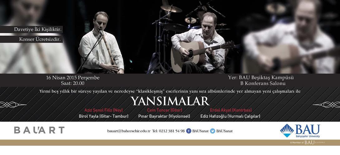 bahçeşehir üniversitesinde konser