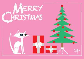 """Three Christmas Wishes"" 3.5""x5"" Christmas Card & Envelope"