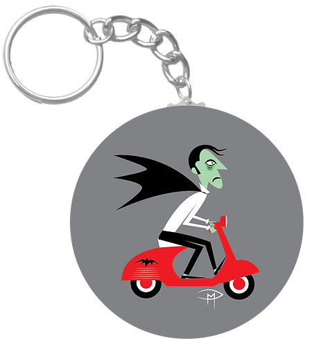 """""""The Count On A Vespa"""" Keychain"""