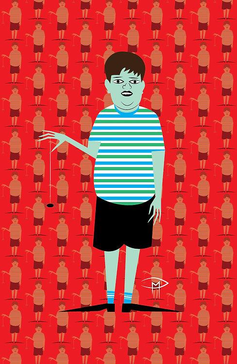 """Pugsley Addams Pattern"" 11""x17"" Poster"