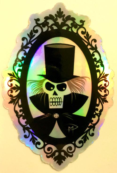 """Haunted Frame"" Die Cut Holographic Sticker"