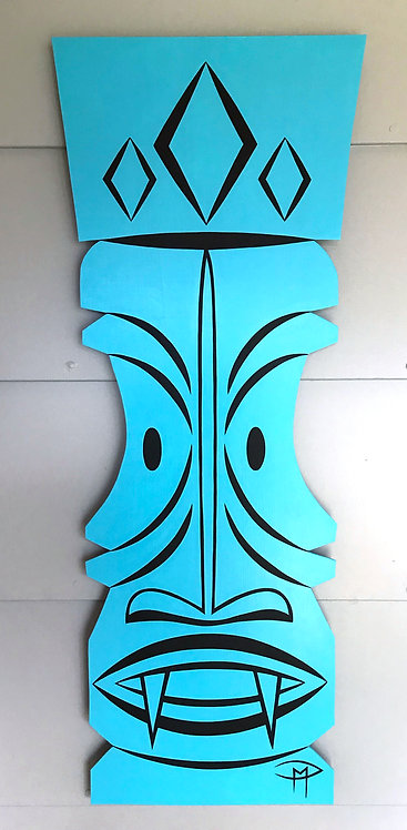 """""""Tiki Blue"""" Acrylic Painting"""