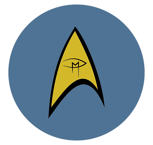 "Star Trek Visual Artist Emblem Blue 2.25"" Button"
