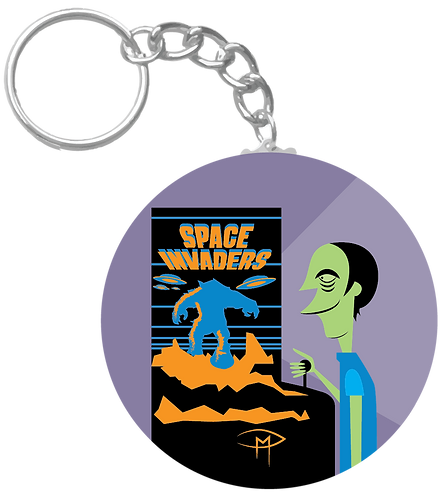 """Space Case"" Keychain"