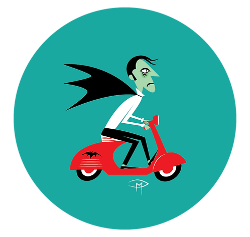"""The Count On A Vespa 2.25"""" Button"""