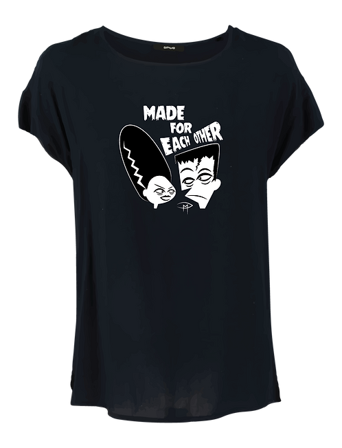 """""""Made For Each Other"""" Girlie Shirt"""