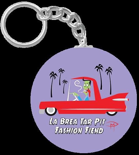 """La Brea Tar Pit Fashion Fiend"" Keychain"