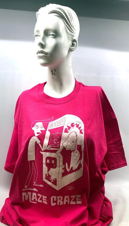 """""""Maze Craze"""" Pink T- Shirt XL"""