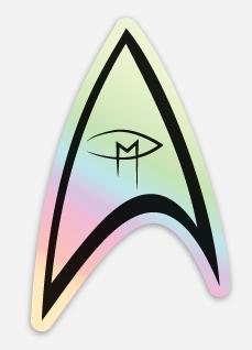 """Star Trek Inspired Visual Artist Emblem Hologram"" Die Cut Sticker"