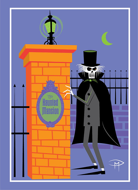"""Hatbox Ghost Returns"" Greeting Card 5""x7"""