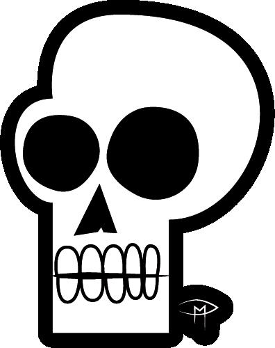 """""""Skull"""" Die Cut Sticker"""