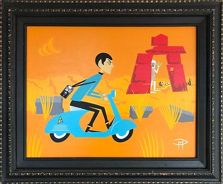 """Spock In Pursuit"" Original Painting"