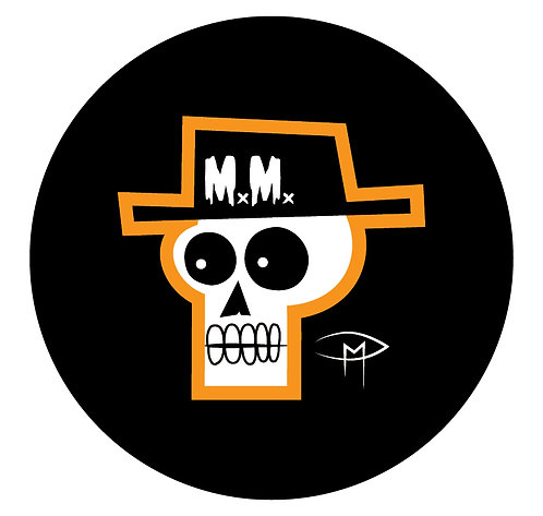 "Mansfield Monsters ""Skele Orange"" Button"