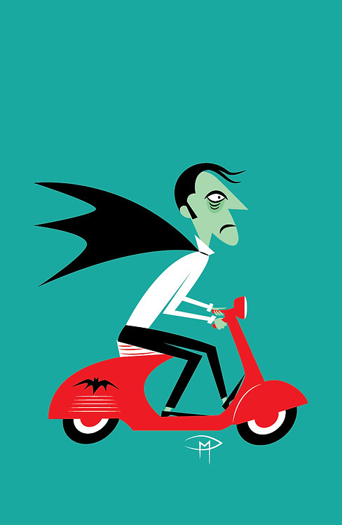 """""""The Count On A Vespa"""" 11""""x17"""" Poster"""