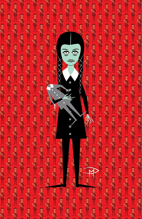 """Wednesday Addams Pattern"" 11""x17"" Poster"