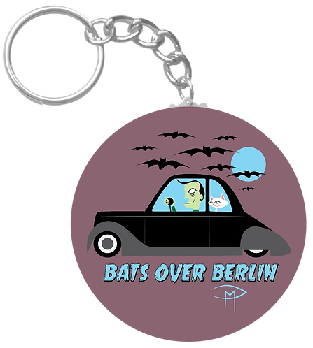 """Bats Over Berlin"" Keychain"