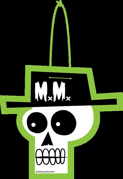 """""""Mansfield Monsters Green"""" Skele Logo Die Cut Decoration"""