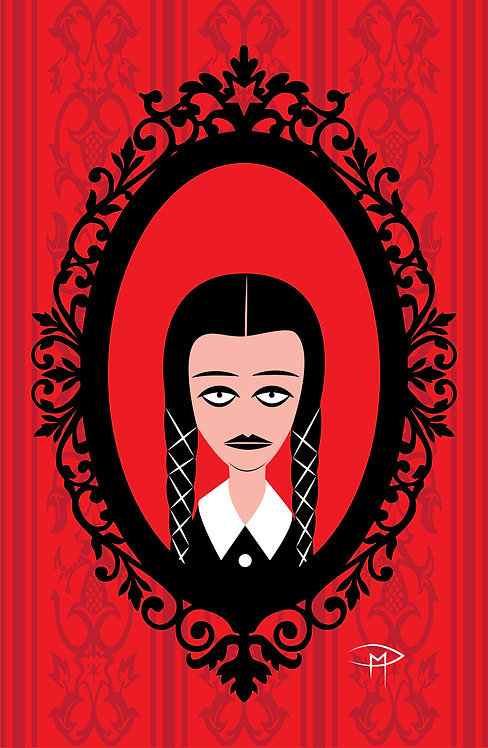 """Wednesday Addams Frame"" 11""x17"" Poster"