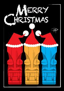 """""""Mele Kalikimaka"""" 3.5""""x5"""" Christmas Card & Envelope"""