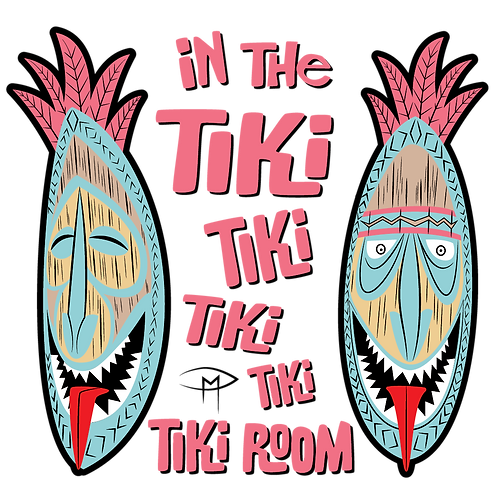 In The Tiki Room Clear Sticker