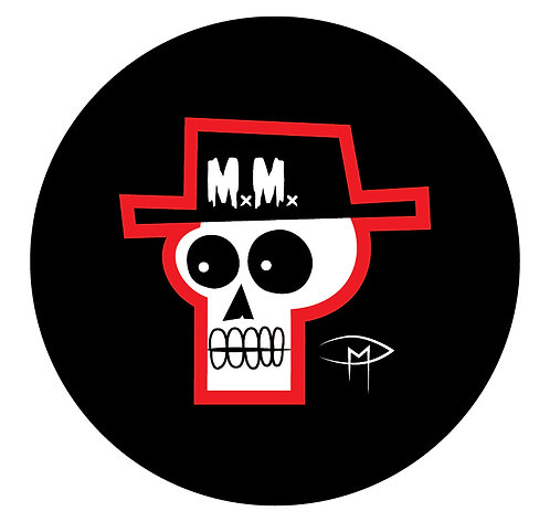 "Mansfield Monsters ""Skele Red"" Button"