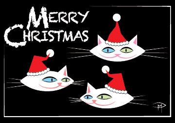 """A Very Furry Christmas"" 3.5""x5"" Christmas Card & Envelope"