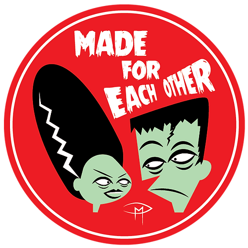 "Made For Each Other 2"" Round Sticker"